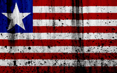 wallpapers Liberian flag 4k grunge flag of Liberia