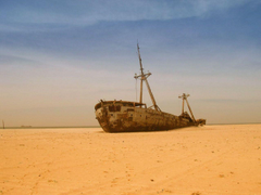 MAURITANIA An amazing shipwreck where there once was water Almost