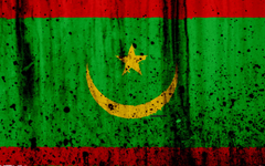 wallpapers Mauritanian flag 4k grunge flag of Mauritania