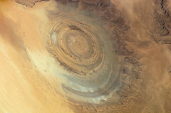 Mauritania Richat Structure in the Maur Adrar Desert photographed