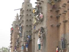 Mali Africa Mosque in Djenne annual remudding