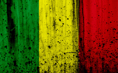 wallpapers Malian flag 4k grunge flag of Mali Africa