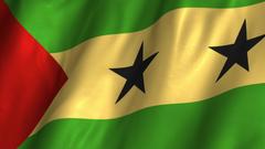 Video São Tomé and Príncipe Waving Flag