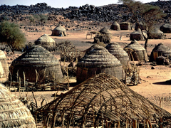 A lovely village Primitive tribe architecture Nigeria Africa