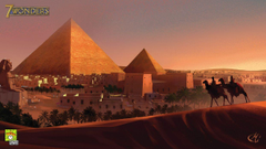 Video games Egypt artwork 7 Wonders pyramids Great Pyramid of Giza