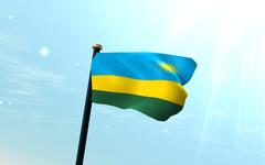 Rwanda Flag 3D Wallpapers