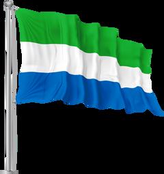 Sierra Leone Waving Flag PNG Image