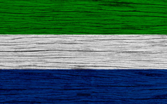 wallpapers Flag of Sierra Leone 4k Africa wooden texture