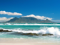 Coastline View of Table Mountain South Africa wallpapers and