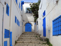 Blue and white houses in Tunisia Wallpapers at Wallpaperist