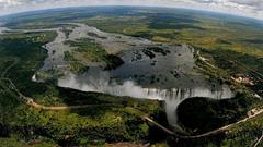 Waterfalls Livingstone Falls David Africa Victoria Zimbabwe