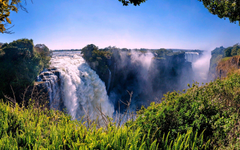 Waterfalls Victoria Falls Zimbabwe Trees Africa Nature Waterfalls