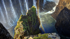 Wallpapers height waterfall cliff rainbow water victoria falls