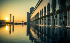 Grand Mosque Abu Dhabi Sunset wallpapers