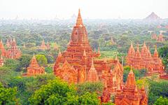 wallpapers Bagan 4k temples ancient city Burma Myanmar