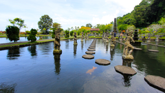 Tirta Gangga Tourist Place in Bali Indonesia 4K Wallpapers