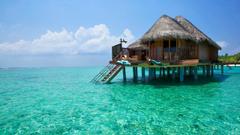 Wallpapers Bali island ocean bungalows 2560x1440