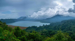 Wallpapers Indonesia Bali Nature Mountains Lake Forests Clouds
