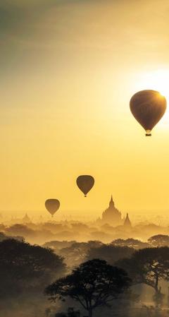 hot air ballon Bagan Myanmar