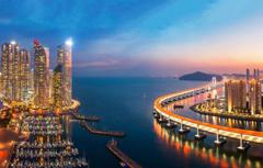Wallpapers sea sunset bridge building port night city