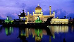 Full HD Wallpapers sultan omar ali saifuddin mosque illumination