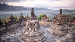 HD wallpaper Borobudur Java Indonesia Landmarks