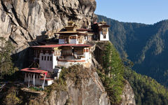 Bhutan buildings mountains valleys wallpapers