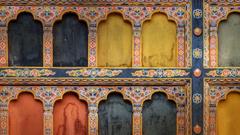 Nexus Wallpapers Architectural detail of Rinpung Dzong in Paro