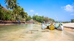 Wallpapers Goa 5k 4k wallpaper India Indian ocean palms boats