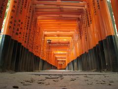 fushimi inari taisha japanese shrine torii