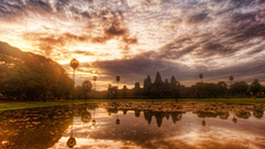 Colorful Cambodia widescreen wallpapers