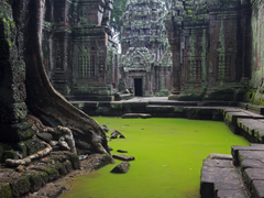 water ruins beauty temple cambodia HD wallpapers