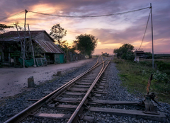 village train cambodia HD wallpapers