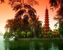 Hanoi Tag wallpapers Hanoi Temple Vietnam Lake Photography Di