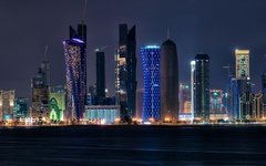 Qatar Tag wallpapers Magnificent Night Cityscape Doha Qatar
