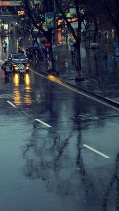 Cityscapes streets rain cars roads motorbikes umbrellas hanoi