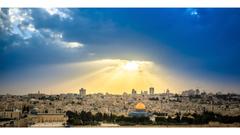 Sunrise Jerusalem Israel 4K Wallpapers