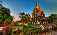 Temple complex in the resort of Chiang Mai Thailand wallpapers and