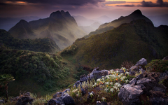 Wallpapers Limestone mountains Chiang Mai Thailand scenery