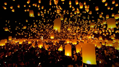 Floating Lantern Festival Ceremony Thailand Wallpapers
