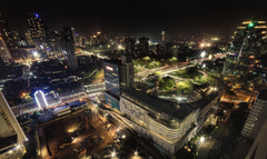 Wallpapers Indonesia Houses Roads Jakarta Night Street lights From