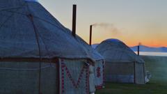 HD wallpaper Kyrgyzstan Song Kul evening chimneys