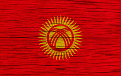 wallpapers Flag of Kyrgyzstan 4k Asia wooden texture