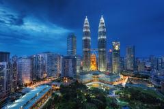 Wallpapers Kuala Lumpur Malaysia Night Skyscrapers Cities