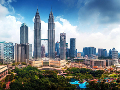 Kuala Lumpur Malaysia Petronas Towers Skyscrapers Cities