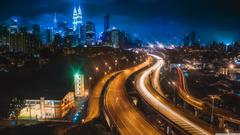 Kuala Lumpur at Night 4K HD Desktop Wallpapers for Dual