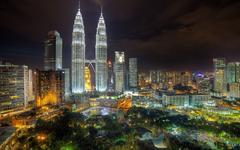 Kuala Lumpur Panoramic View Petronas Towers Malaysia widescreen
