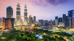 Kuala Lumpur City Centre At The Evening Malaysia Wallpapers