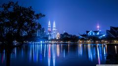 Kuala Lumpur Malaysia Petronas KL tower 4K HD Desktop Wallpapers