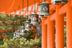Hanging Lanterns Heian Shrine Kyoto Japan HD Wallpapers Backgro